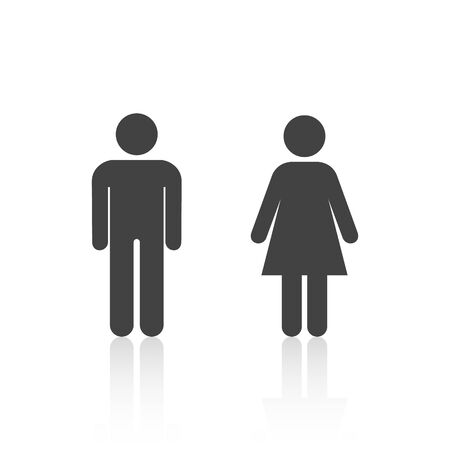 man and woman icon isolated on white background. Vector illustration