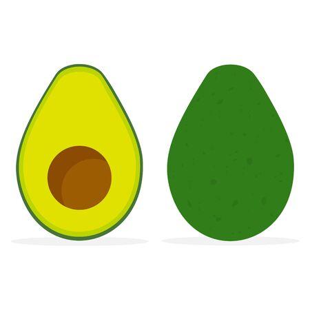 Avocado icon. Vector illustration isolated on white background Vektoros illusztráció