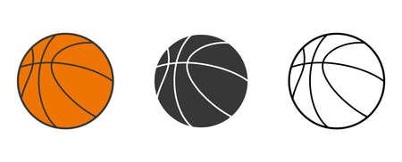 Basketball. Set. Vector illustration. Basketball icon on white background. 向量圖像