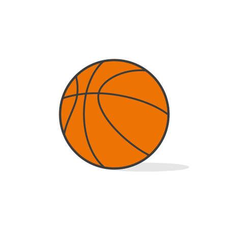 Basketball. Vector illustration. Basketball icon isolated on white background.