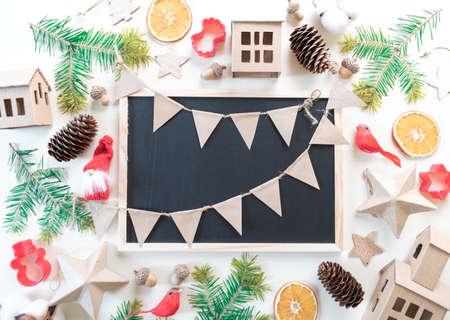 Christmas decoration set on white Reklamní fotografie
