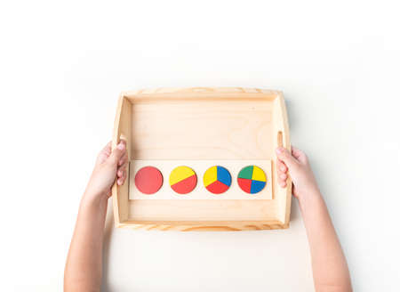 Toddler education material on white 版權商用圖片