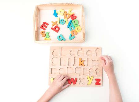 Toddler education material on white Reklamní fotografie