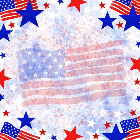4th of July, American Independence Day. Background in national flag colors Stock Photo