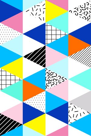 80s: seamless geometric pattern. Memphis Style. Abstract 80s. Bright Colors