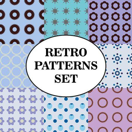 pallette: Ensemble de différents motifs rétro sans soudure Pallette froid.