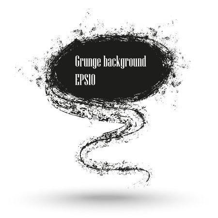 grunge banner: Charcoal texture grunge banner.