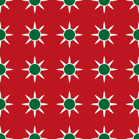x mas parties: Christmas Red and Green Geometric Seamless Pattern.