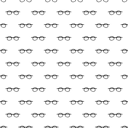 Vector seamless pattern with hand drawn glasses.  Beautiful design elements, perfect for prints and patterns.