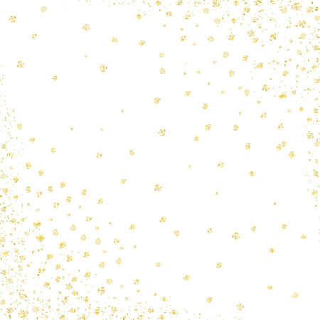 Gold polka dots design template. Vector background. Vettoriali
