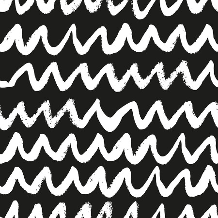 inky: Hand drawn black and white trendy seamless pattern. Inky abstract texture.