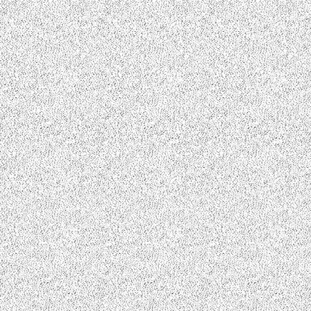 Rich noisy seamless vector texture of tiny strokes and dots isolated on white background. Endlessly repeating layout of visual noise for creating decorative effect in design or illustration.