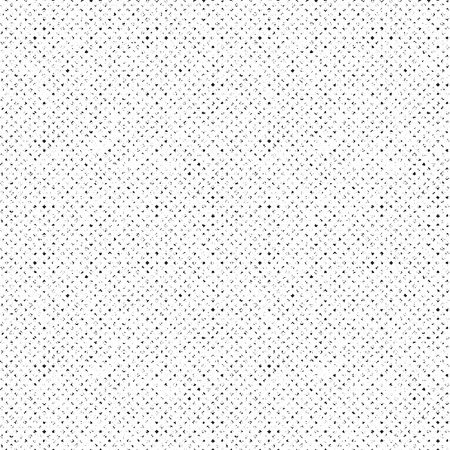 Distorted ditsy geometrical seamless texture. Noisy rough image for decorative effects. Vector illustration.