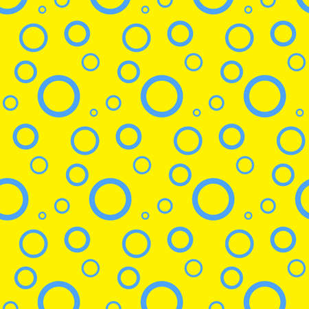 Seamless pattern with circles. Abstract background with bubbles. yellow wallpaper. Fantasy water illustration. Abstract pattern for textile, gift wrap, design and web. Simple minimalistic texture