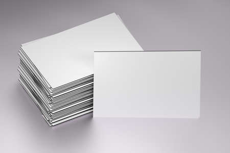 Stack of white blank business cards mockup on white background 3d imagens stack of white blank business cards mockup on white background 3d illustration reheart Image collections
