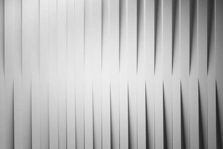 Abstract background with vertical repeating lines of white folded paper stripes with shadows. 3d illustration. Фото со стока