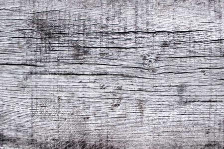 Holzstruktur mit weißen Schmerzen auf der Oberfläche mit Rissen. Standard-Bild