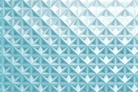 Blue repeating pattern with inverted pyramids triangles. 3d illustration. Reklamní fotografie