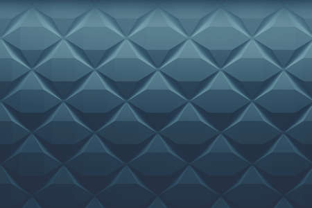 Geometric pattern with basic shapes in classic blue faded colour. 3d illustration. Stockfoto
