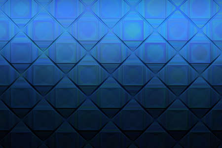 Abstract complex pattern with square shapes and pseudo metallic etched texture. 3d illustration. Stockfoto