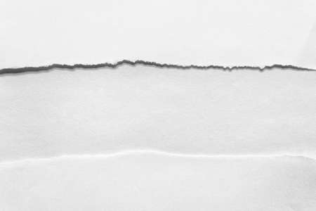 Sheets layers of paper with ripped uneven edges with horizontal empty blank line.