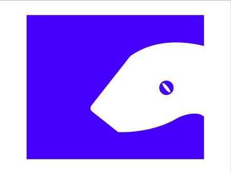 snake icon template. Viper symbol