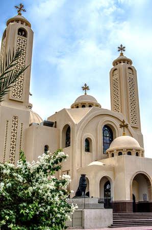 outdoor lighting: Coptic Church in Sharm El Sheikh.