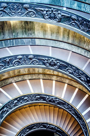 Beautiful circular staircase in the Vatican Museum. Stok Fotoğraf