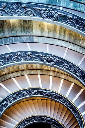 Beautiful circular staircase in the Vatican Museum. Stock fotó