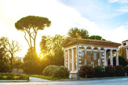 The Temple of Portunun Rome. Italy.