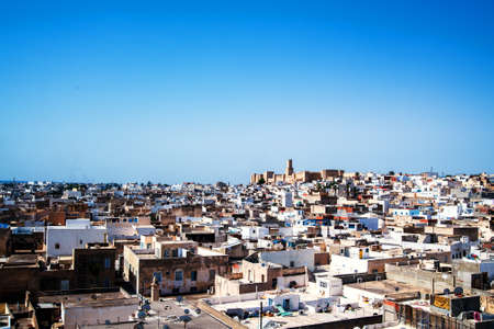 View of the Medina of Sousse from the tower of the Ribat. Tunisia. North Africa. Banco de Imagens