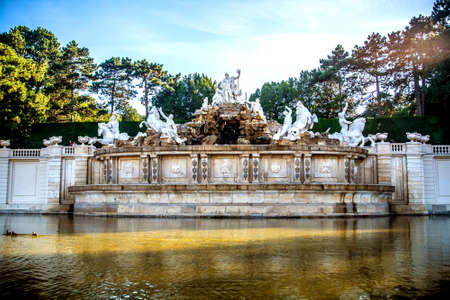 Fountain in the park of Sch?nbrunn. Vienna Austria