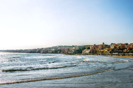 The coast of the sea city of Nettuno in the vicinity of Rome. Italy 写真素材