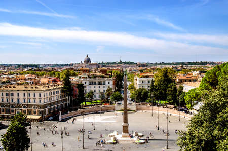 View of the Piazza del Poppolo. Rome Italy
