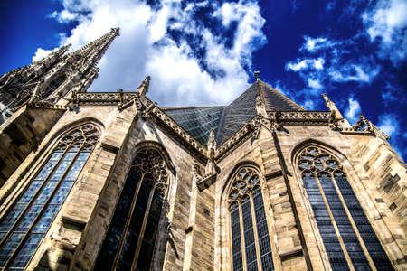 St. Stephen's Cathedral rises skyward. Vienna Austria
