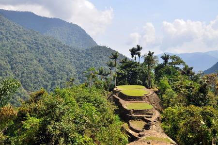 失われた都市、コロンビアの先住民のサイトの遺跡