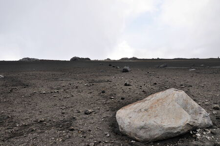 ruiz: Moonlike landscape on a slope of volcano Ruiz