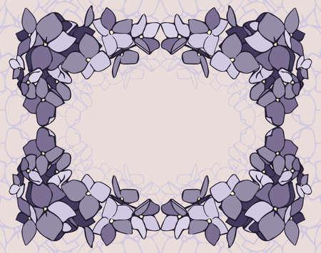 beige background: Lawender flowers frame on a beige background Illustration