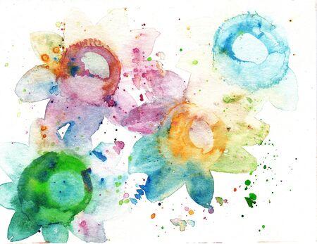 abstract art splash watercolor background spot brush