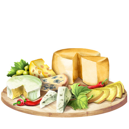 Sorten Käse Standard-Bild - 74155762