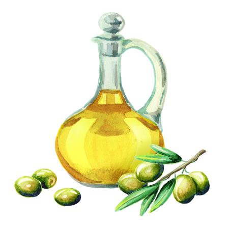 Olio di oliva. Acquerello Archivio Fotografico - 80203436