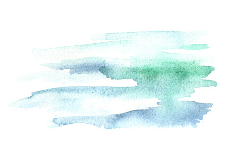 Blue  watercolor  background for your design. Hand drawn texture