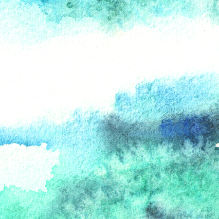 Blue watercolor  background Hand  drawn  texture Stock Photo
