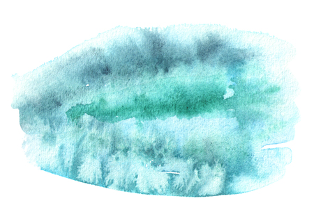Blue watercolor  background Hand drawn texture