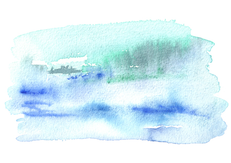 Blue watercolor  background. Hand drawn texture Stock Photo