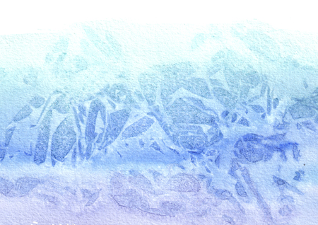 Blue watercolor background for your design, hand drawn texture Stock Photo