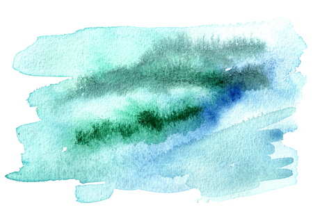 Blue winter  watercolor background for your design, hand drawn texture Stock Photo