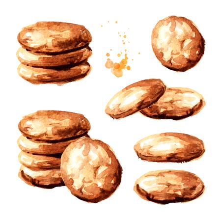 Oat cookies set. Archivio Fotografico - 119302168