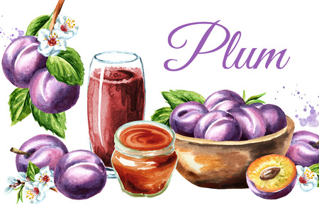 Ripe plum card.