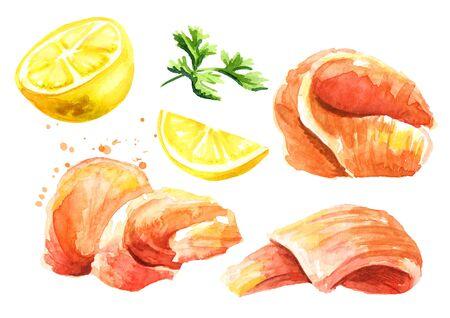 Smocked salmon fillet set